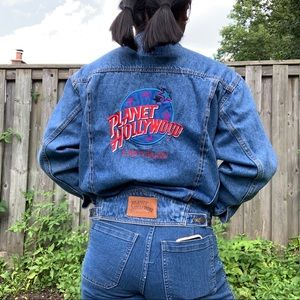 VINTAGE 90'S (1991) PLANET HOLLYWOOD JEAN JACKET